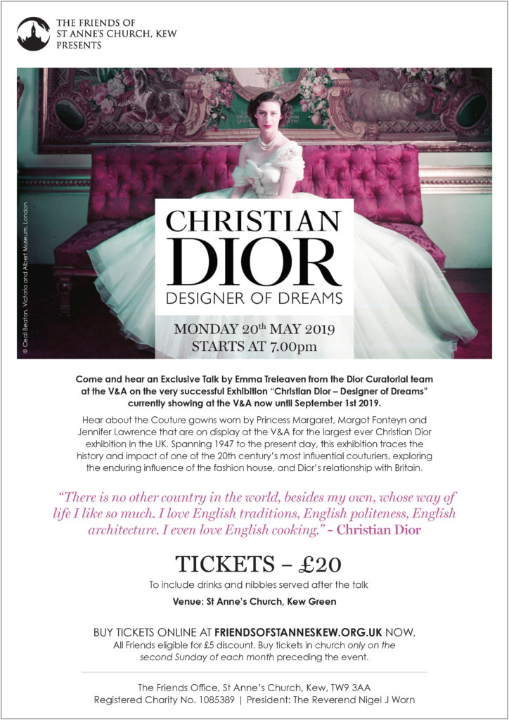 This image has an empty alt attribute; its file name is Flyer-The-Friends-of-St-Annes-Church-Kew-CHRISTIAN-DIOR-DESIGNER-OF-DREAMS-borderd-v2-724x1024.jpg