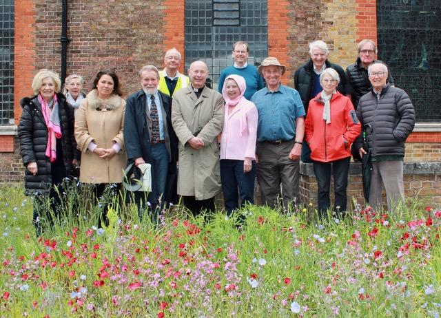 The Planting team with the Kew Society On Wednesday 19th May 2021